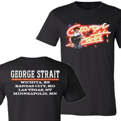 George Strait Neon Name Black Tour Tee