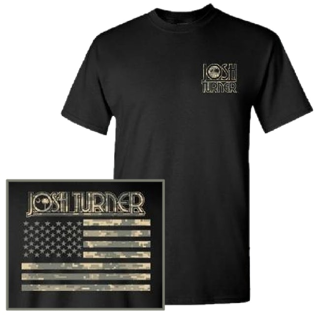 Josh Turner Digital Camo Black Tee
