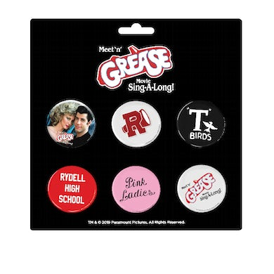 Olivia Newton John Meet and Grease Movie Sing-A-Long Button Set