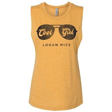 Logan Mize Ladies Antique Gold Muscle Tank