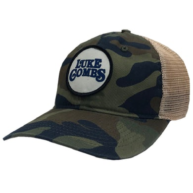 Luke Combs Camo and Khaki Logo Ballcap