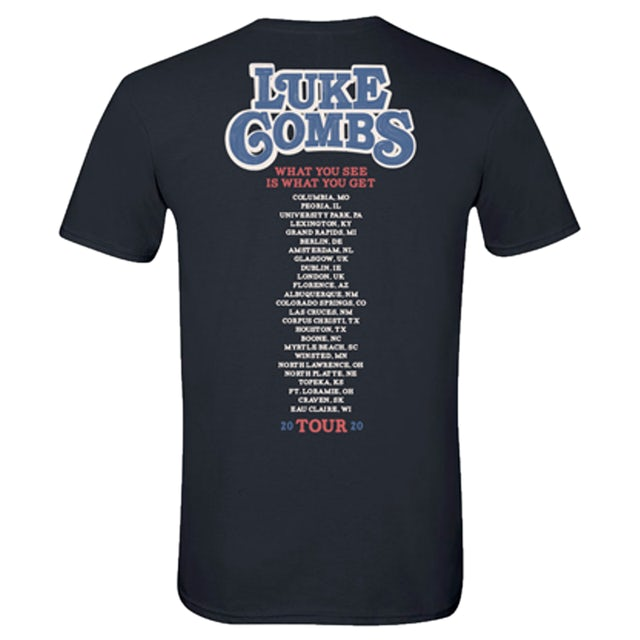 Luke Combs 2020 Photo Tour Tee | Black