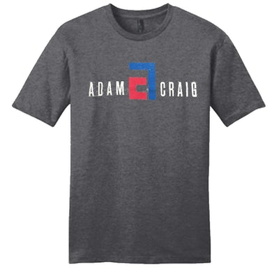 Adam Craig Heather Charcoal Logo Tee