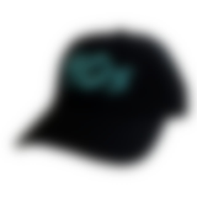 Adam Sanders The Best Decade in Country Music Unconstructed Black Ballcap- Teal Logo