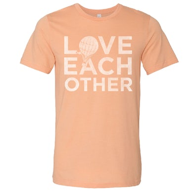 Love and Theft Unisex Heather Peach Love Each Other Tee