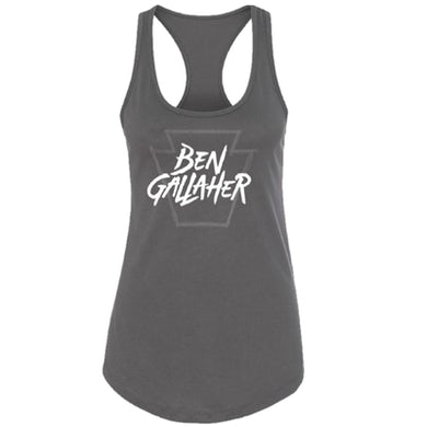 Ben Gallaher Ladies Dark Grey Racerback Tank