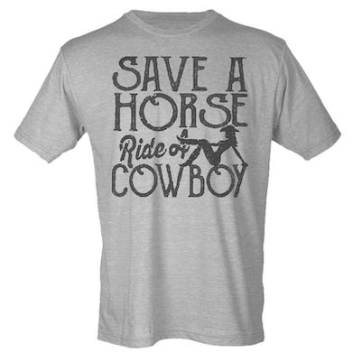 Big & Rich Big and Rich Heather Grey Save A Horse Tee