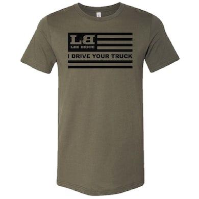 Lee Brice Military Green Flag Tee
