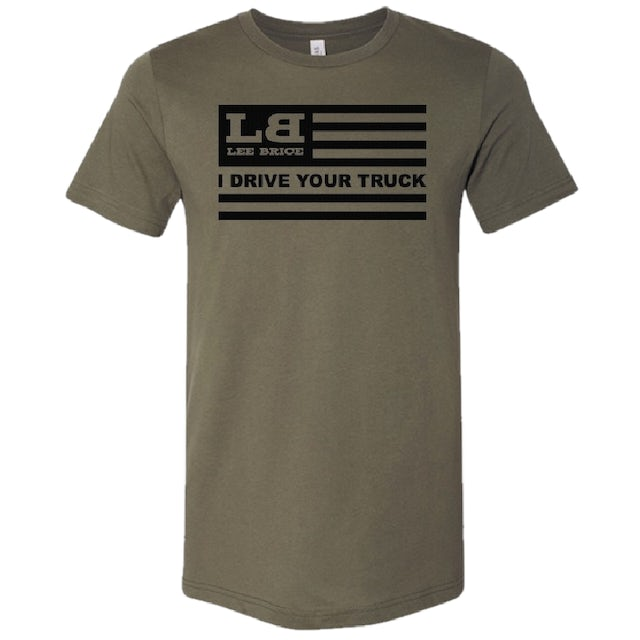 Lee Brice Military Green Flag Tee