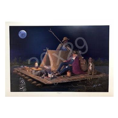 Mel Tillis Print- Huckleberry Moon