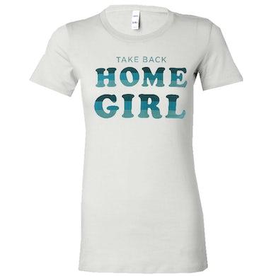 Chris Lane Ladies White Tee- Take Back Home Girl