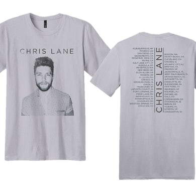 Chris Lane Unisex Silver Tour Tee