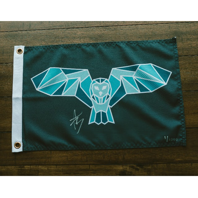 Mitchell Tenpenny Night Owl Signed Flags