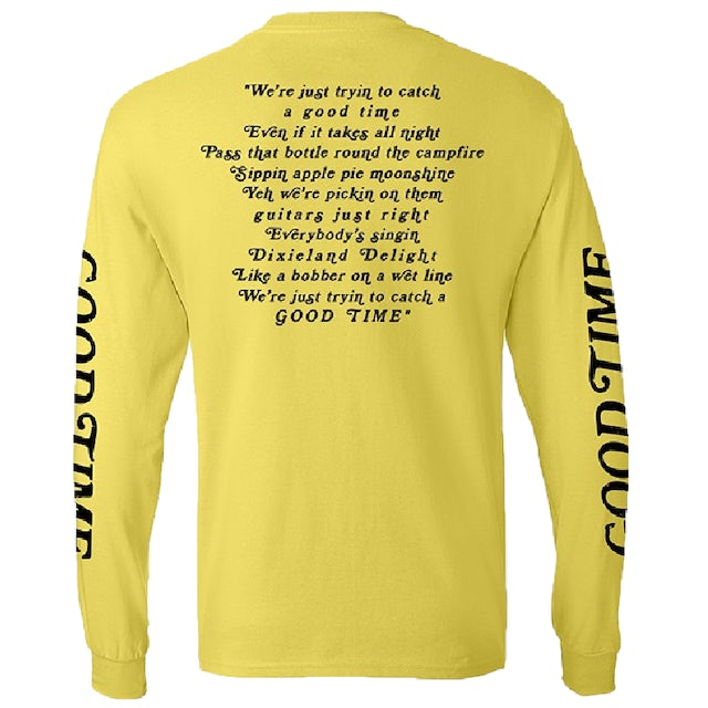 Niko Moon Long Sleeve Good Time Yellow Tee