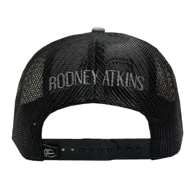 Rodney Atkins Heather Grey and Black Ballcap