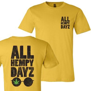 Lonestar All Hempy Dayz Maize Yellow Sunglasses Tee- PRESALE