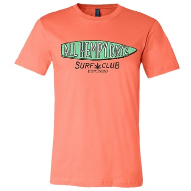 Lonestar All Hempy Dayz Coral Surf Club Tee- PRESALE