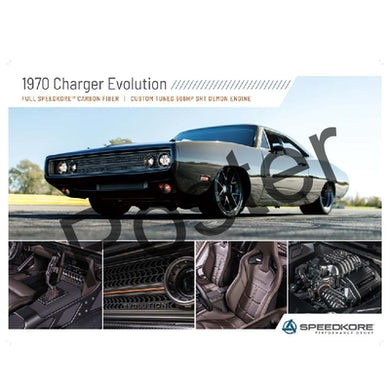 Allie Colleen SpeedKore 1970 Charger Evolution Poster