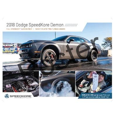 Allie Colleen 2018 Dodge SpeedKore Demon Poster