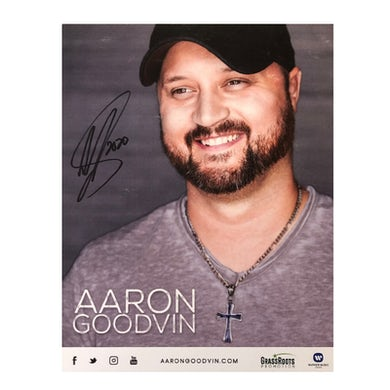 Aaron Goodvin Signed 8x10