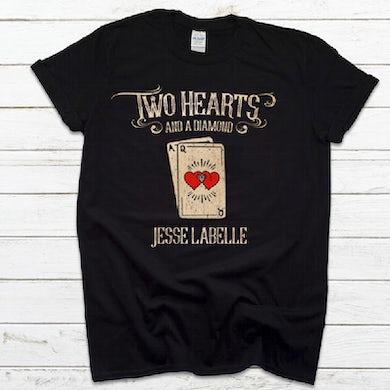 Two Hearts Black Tee