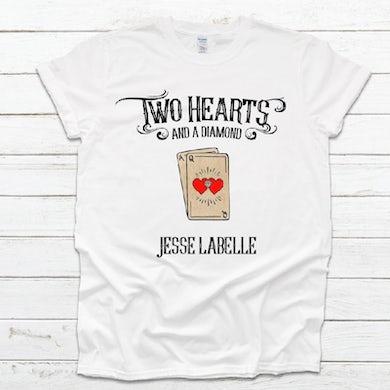 Two Hearts White Tee