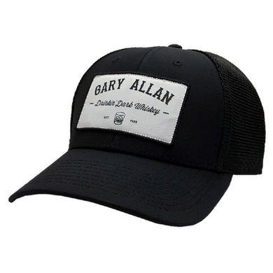 Gary Allan Drinkin' Dark Whiskey Black Ballcap