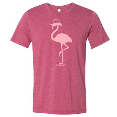 Ernest Heather Raspberry Flamingo Tee