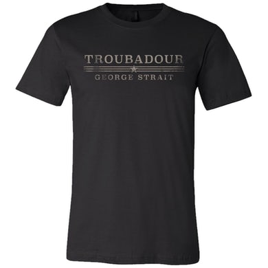 George Strait Troubadour Black Tee