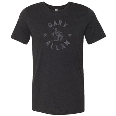 Gary Allan Black Heather Logo Tee