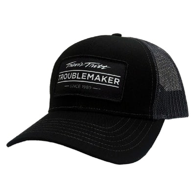Troublemaker Black and Charcoal Ballcap
