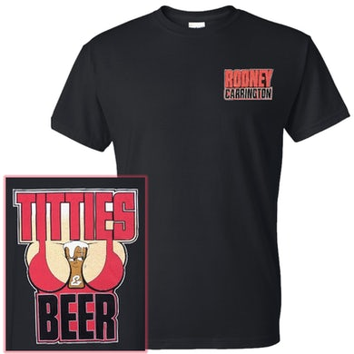 Titties and Beer Black Tee