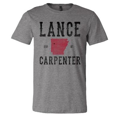 Lance Carpenter Deep Heather Arkansas Tee