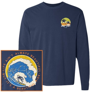 Gary Allan Long Sleeve True Navy Tee