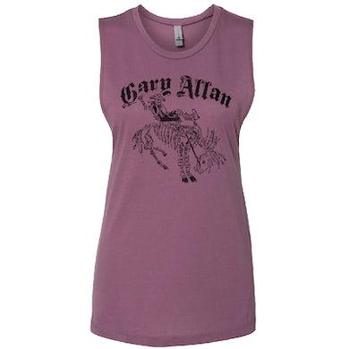 Gary Allan Ladies Purple Muscle Tank