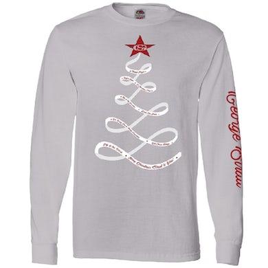 George Strait Long Sleeve Silver Christmas Tee