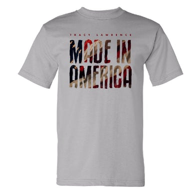 Tracy Lawrence Made In America Silver Tee