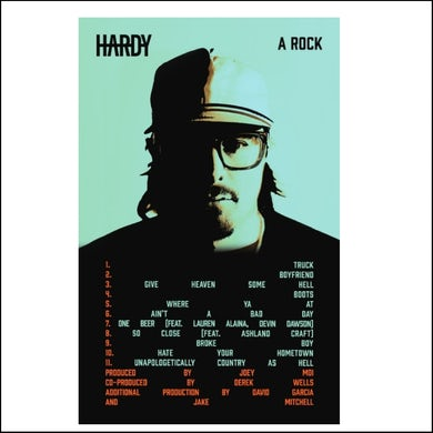 """HARDY A Rock 14"""" X """"22 Poster"""
