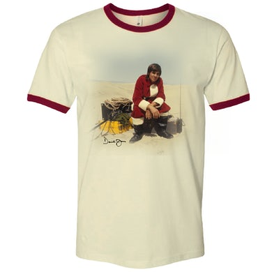 Davy Jones Natural and Maroon Ringer Tee