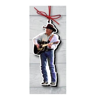 George Strait Wooden Christmas Ornament