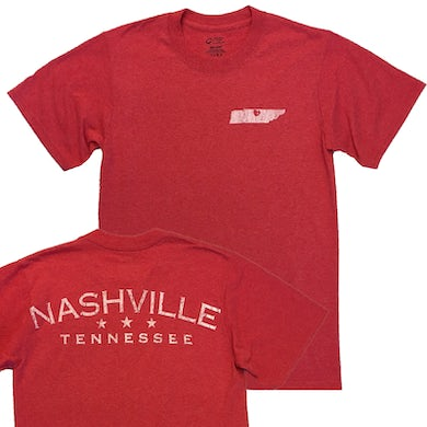 Richards And Southern Nashville Heather Red Tee