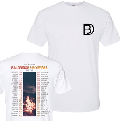 Baldridge and Bonfires Part Two White Tour Tee