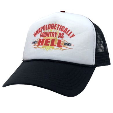 HARDY White and Black Trucker Hat