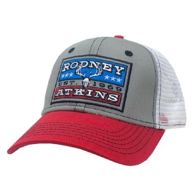 Rodney Atkins Grey, White and Red Ballcap