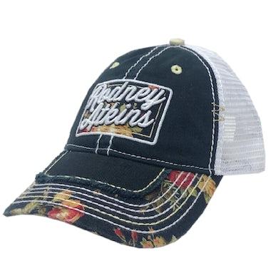 Rodney Atkins Black Floral Ballcap