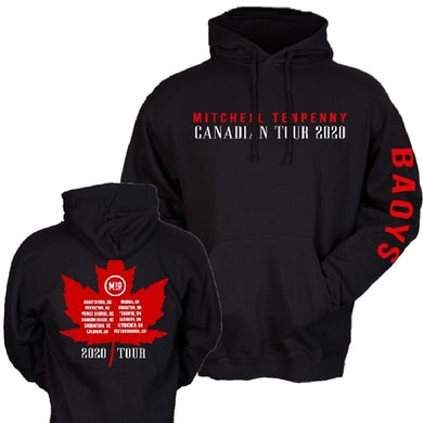 Mitchell Tenpenny Black Pullover Hoodie- Canada Tour