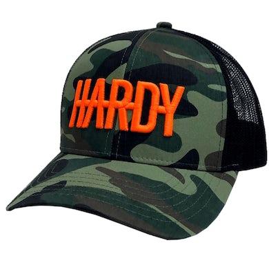 HARDY Camo and Black Ballcap