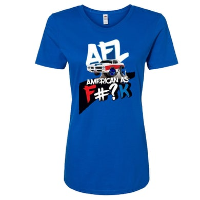 Aaron Lewis Ladies American As F#?K Royal Tee