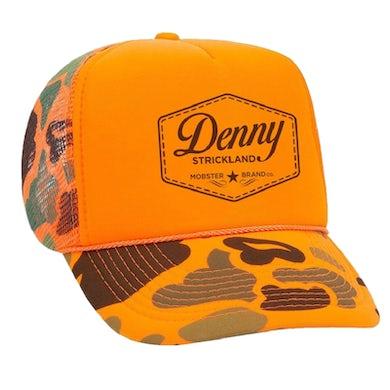 Orange Camo Trucker Hat