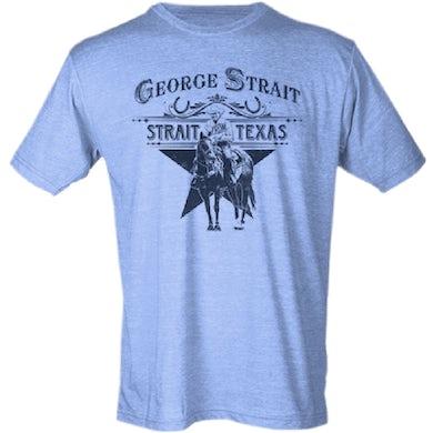 George Strait Athletic Heather Blue Tee